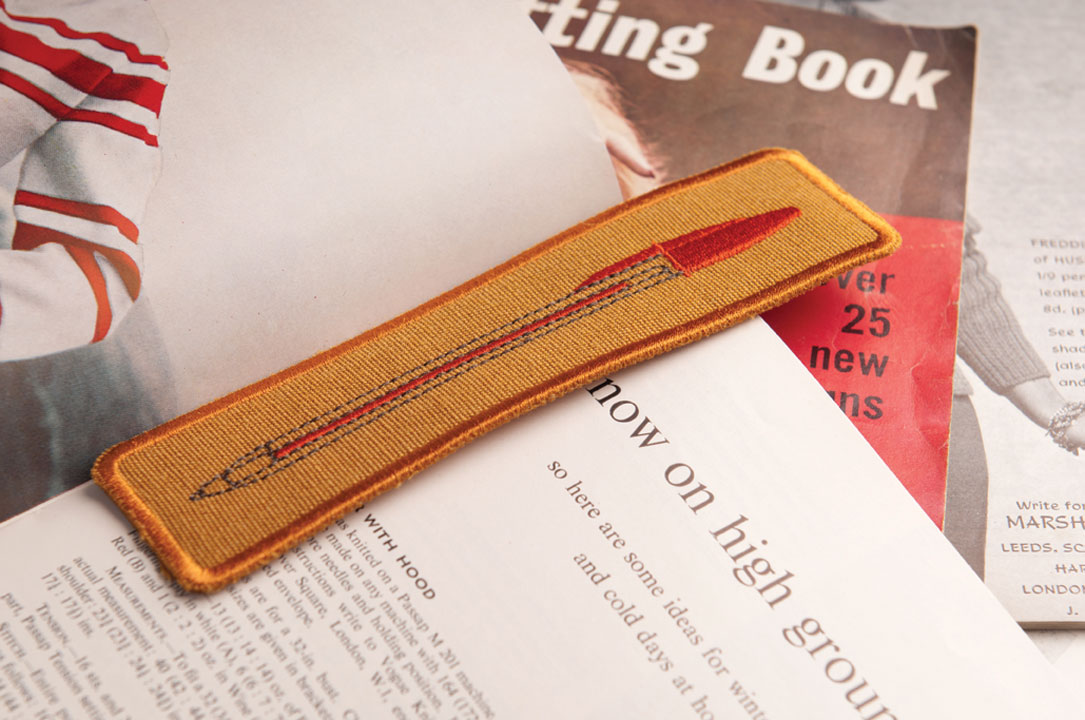 Biro Bookmark - red ink